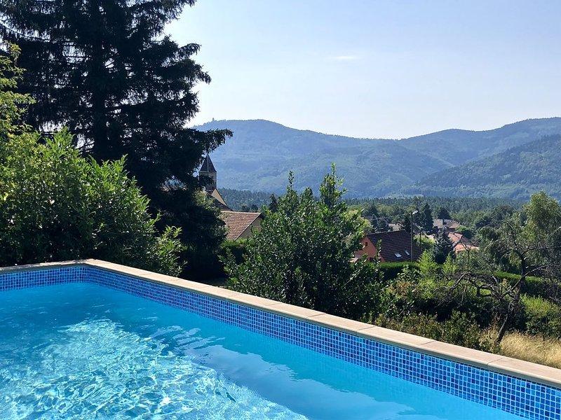 Gîte 'Au Grès des Saisons' classé 3 étoiles - piscine privée, vue, au calme, alquiler vacacional en Breitenau