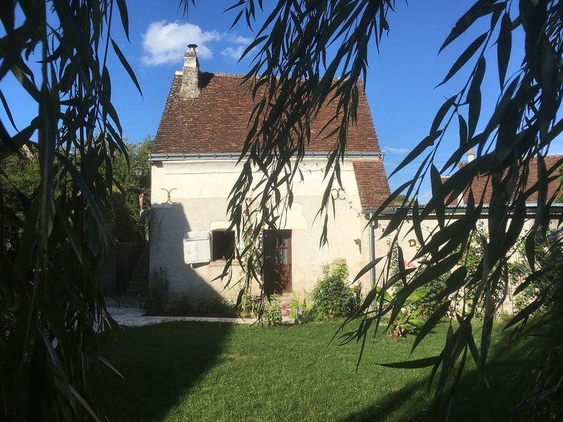 La petite maison dans le jardin fleuri, location de vacances à Chedigny