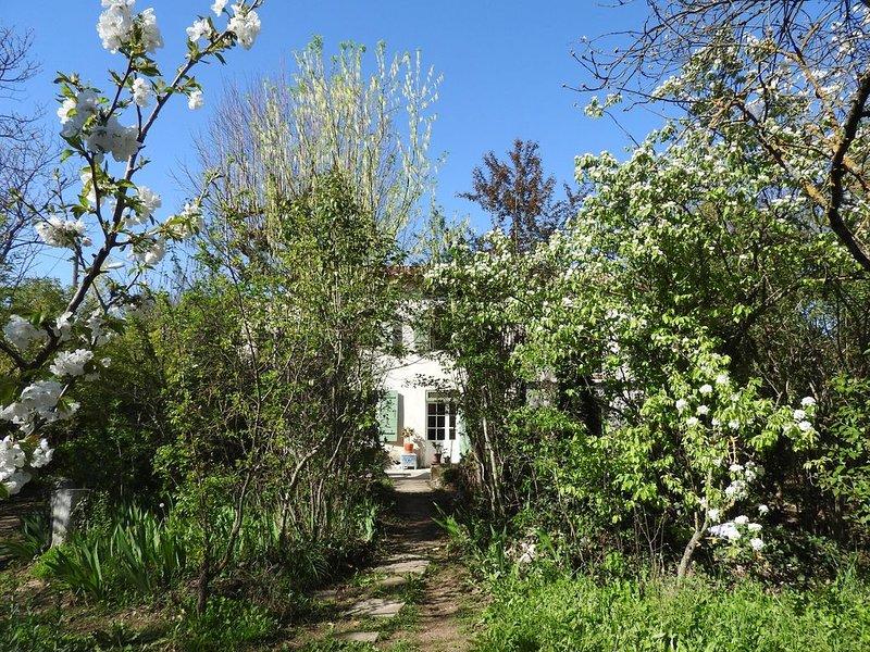STUDIO N°2 Aix 32 m² jardin biologique,fraîcheur, rivière,1,9 km centre ville, location de vacances à Le Tholonet