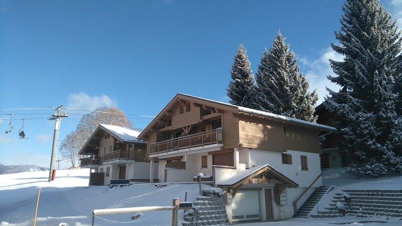 Appartement pour 6 personnes, décoration agréable, situé sur les pistes, holiday rental in Crest-Voland