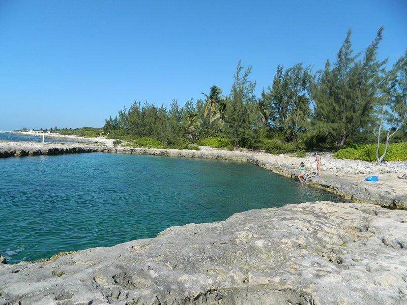 Popular snorkelling spot, Buccaneer. West end of Cayman Brac.