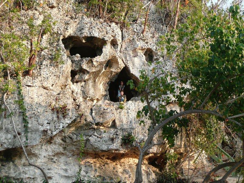 Senderismo fácil a la cueva del cráneo, Caimán Brac