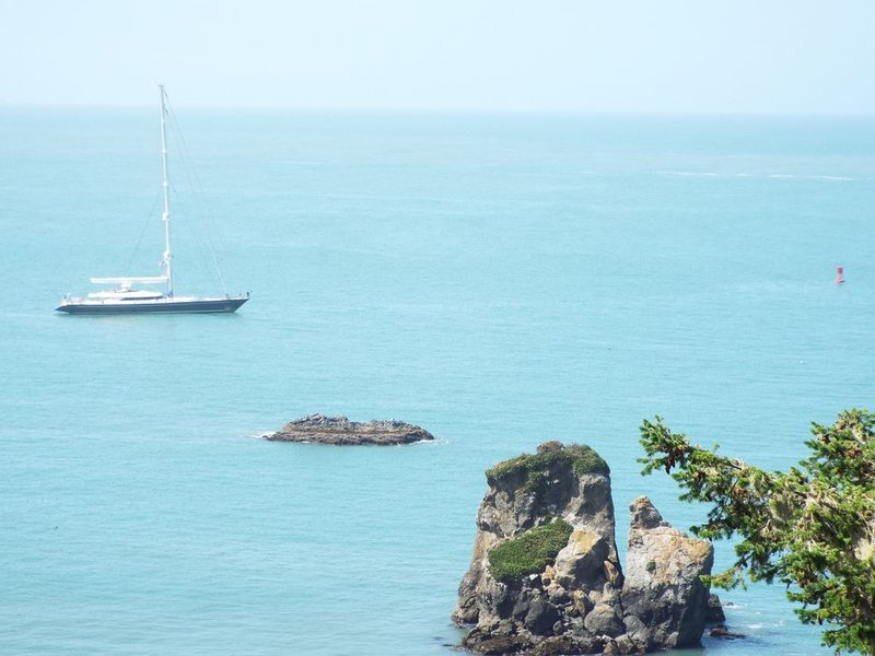 Ocean views from Great Room- Stunning Spanish Sail Boat sits in Trinidad Harbor!
