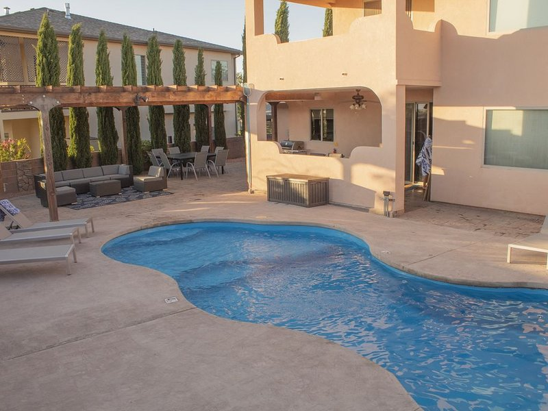 Outdoor oasis, come lounge here, cool off and watch the beautiful sunsets.