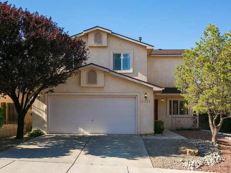 Two car garage for extra security. Parking on driveway and street also avail.