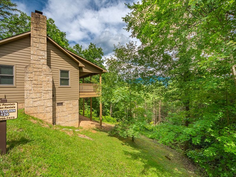 Nestled Inn 1BR/1BA Mountain Views Hot Tub Paved Wi-Fi Pigeon Forge Wears Valley, holiday rental in Wears Valley