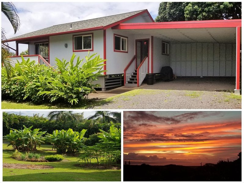 Enhanced Cleaning.  Cute cottage, Ocean Views, A/C, Serene & Private., alquiler de vacaciones en Makawao