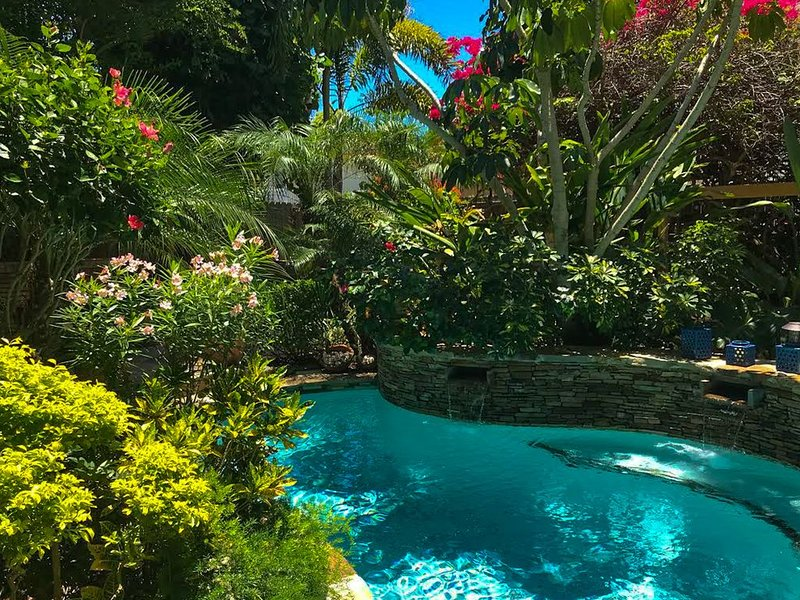 Relax your day away in our laguna style pool.