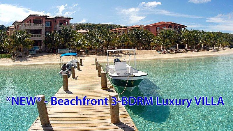 *NEW* $1.5 Million+ Beachfront Villa - infinity pool, views!!! & luxury service, holiday rental in Flowers Bay