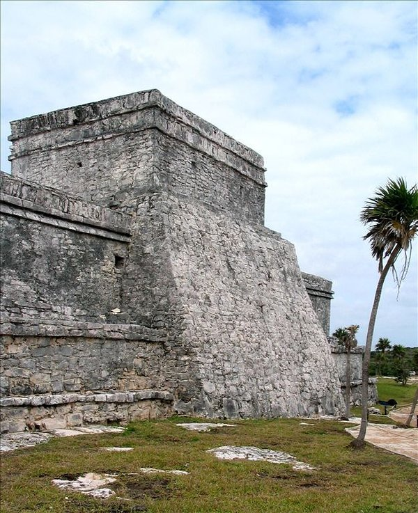 Mayan ruins at Tulum, about a half hour's drive south
