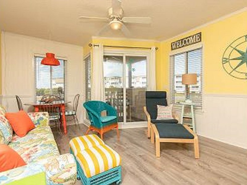 Beachy and cozy and ready for your stay!
