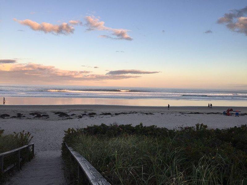 Footbridge Beach in early evening