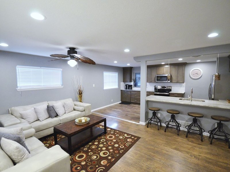 Enjoy the comfort of an open space concept with a large kitchen!