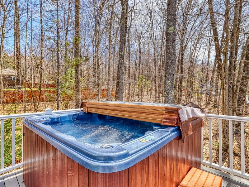 Spacious home w/ private hot tub, mountain views! Near skiing, holiday rental in Conway