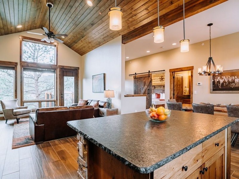 Luxury Townhome with Balcony, Grill, and Rocky Mountain Views, vacation rental in Estes Park