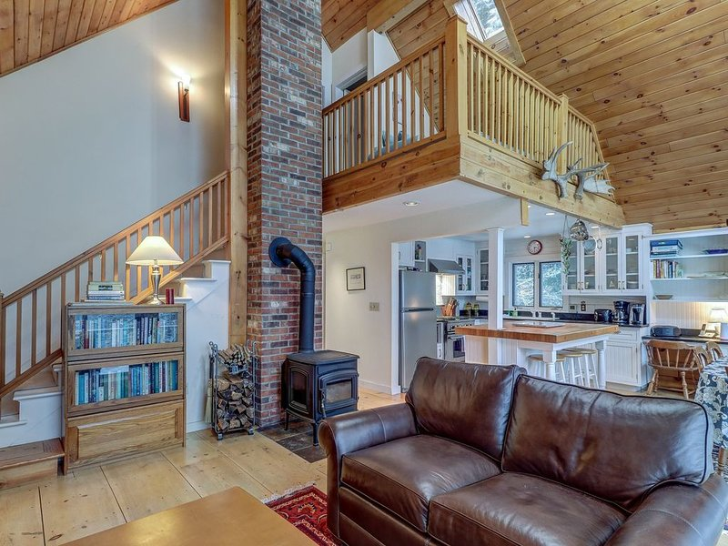 New listing! Serene luxury cabin with wood stove & deck!, vacation rental in Craftsbury