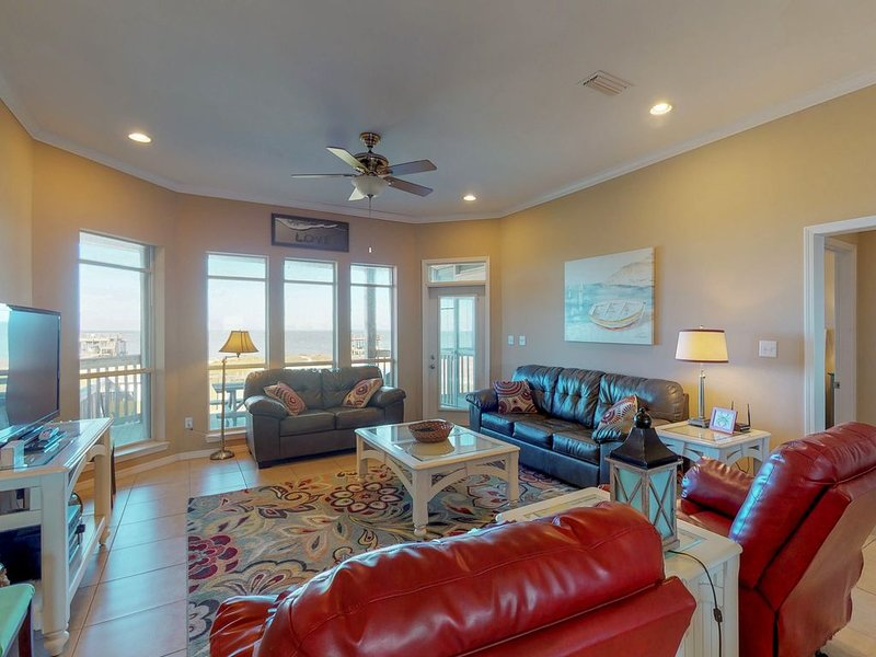 Bayfront dog-friendly home w/ beach access, breathtaking views, holiday rental in Coden