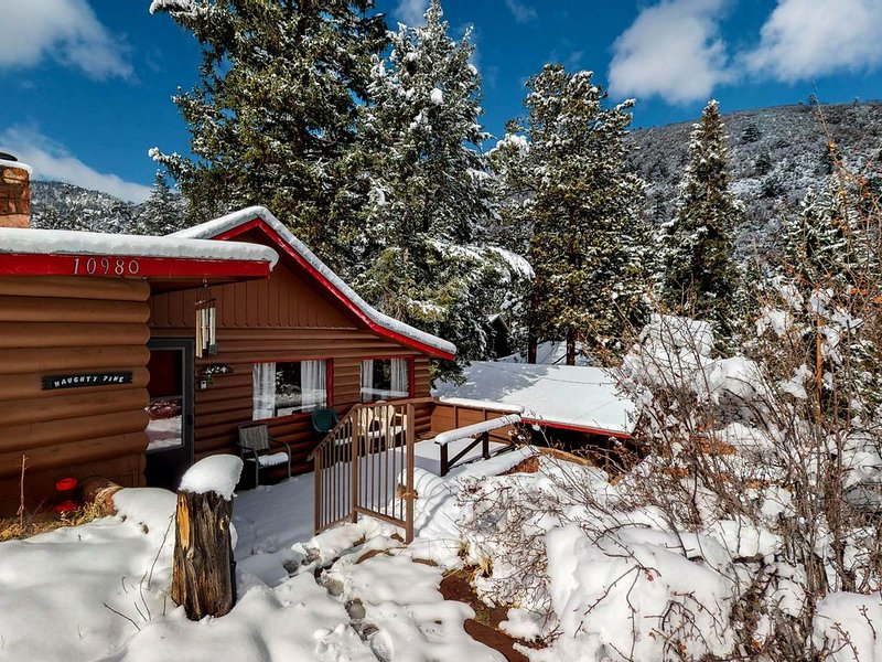 Cozy Colorado cabin with large deck, free WiFi, quiet location, holiday rental in Green Mountain Falls