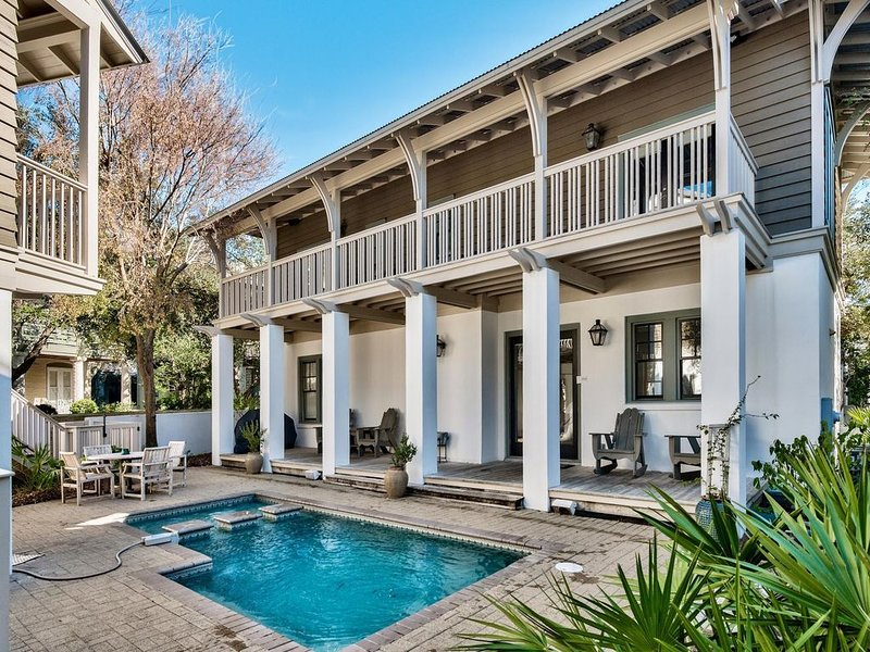 Grand Terre: Spectacular 5BR Home! South of 30A w/ Private Pool! Pet Friendly!, holiday rental in Rosemary Beach