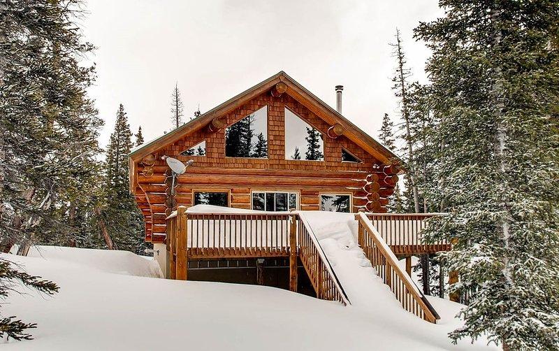 Pet Friendly a true LOG cabin that is cozy and has amazing views - A True Mounta, alquiler de vacaciones en Alma