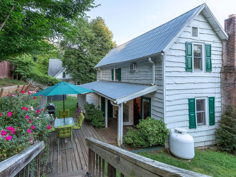 Downtown, dog-friendly, Dillsboro home w/ fireplace - front porch & back deck!, aluguéis de temporada em Jackson County