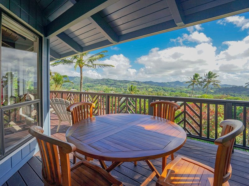Two-story house w/ wraparound lanai, WiFi, amazing views, vacation rental in Kekaha
