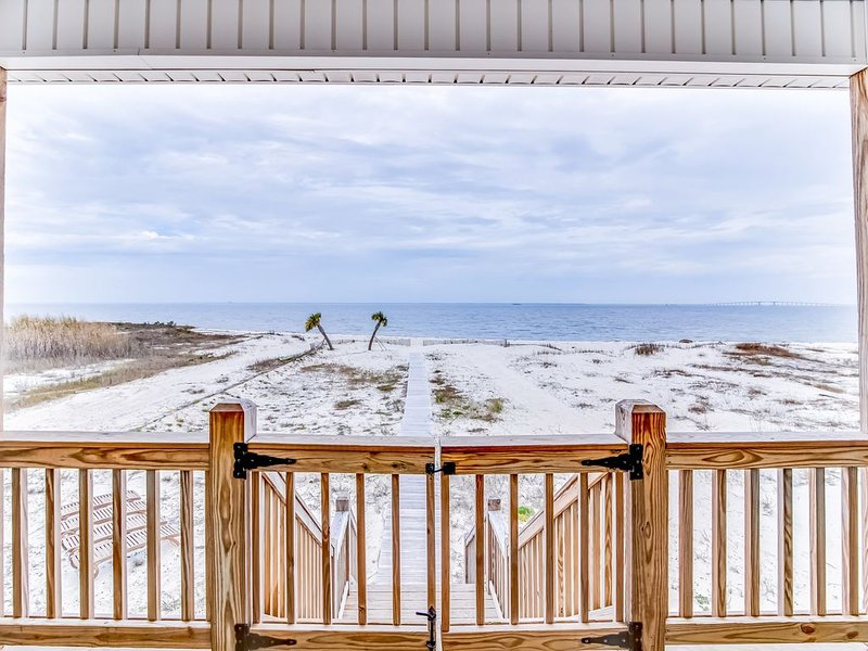 Dog-friendly, waterfront getaway w/ a private hot tub, furnished patio, hammock, holiday rental in Coden