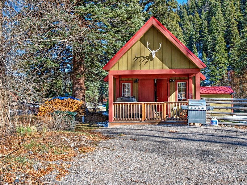 Riverside cabin w/private hot tub, wood stove, deck & river views, alquiler de vacaciones en South Fork