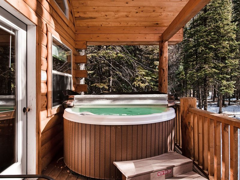 Cozy, waterfront cabin near National Forest w/bridge & hot tub, alquiler de vacaciones en South Fork