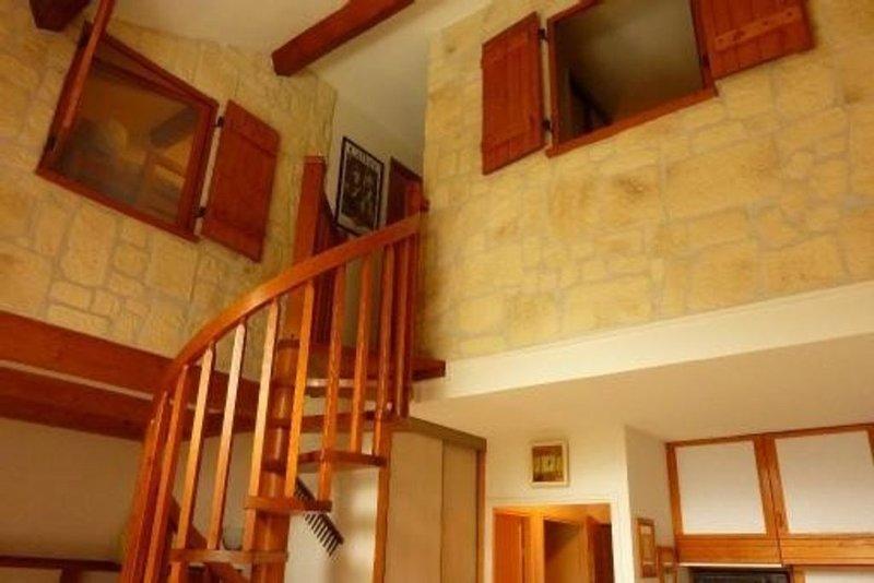 Utsikt över de två sovrummen på övervåningen