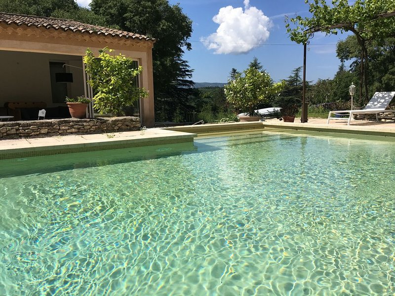 Triangle d'or du Luberon : grande villa avec piscine chauffée, holiday rental in Beaumettes