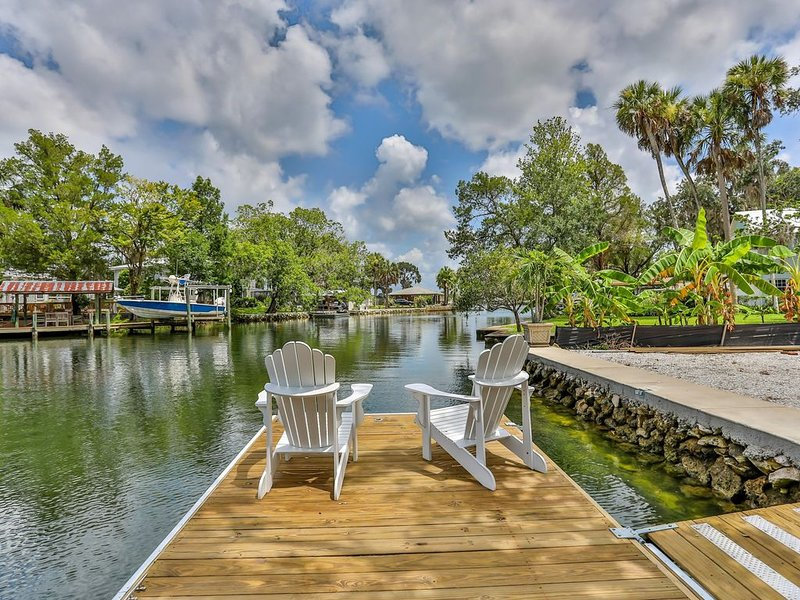 Waterfront Kings Bay, Swim in Springs off the boat dock - Kayaks incl., holiday rental in Crystal River