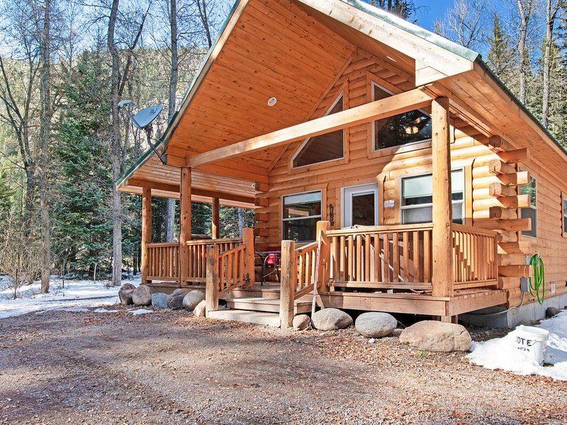 Homey cabin w/private hot tub, deck & grill - near National Forest, holiday rental in South Fork