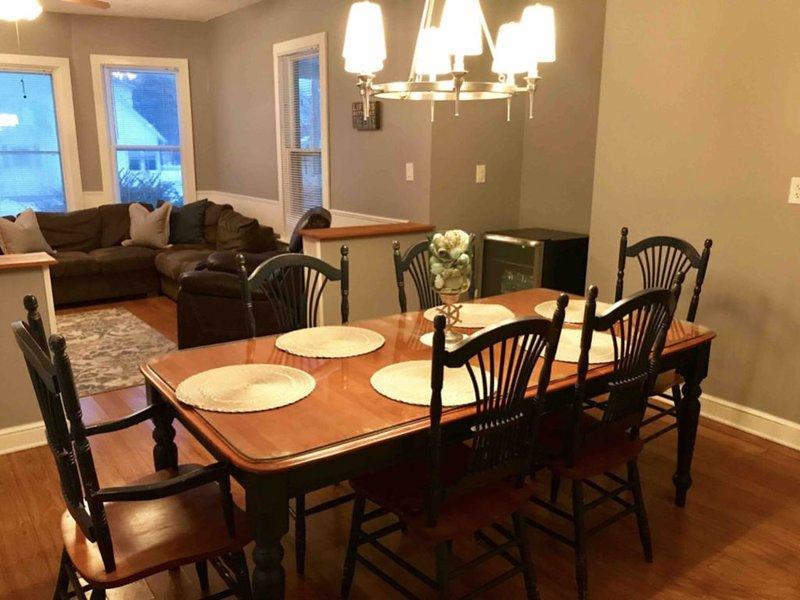 Make memories around our spacious dining table!