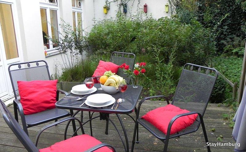 Private Terrasse im ruhigen Hinterhof