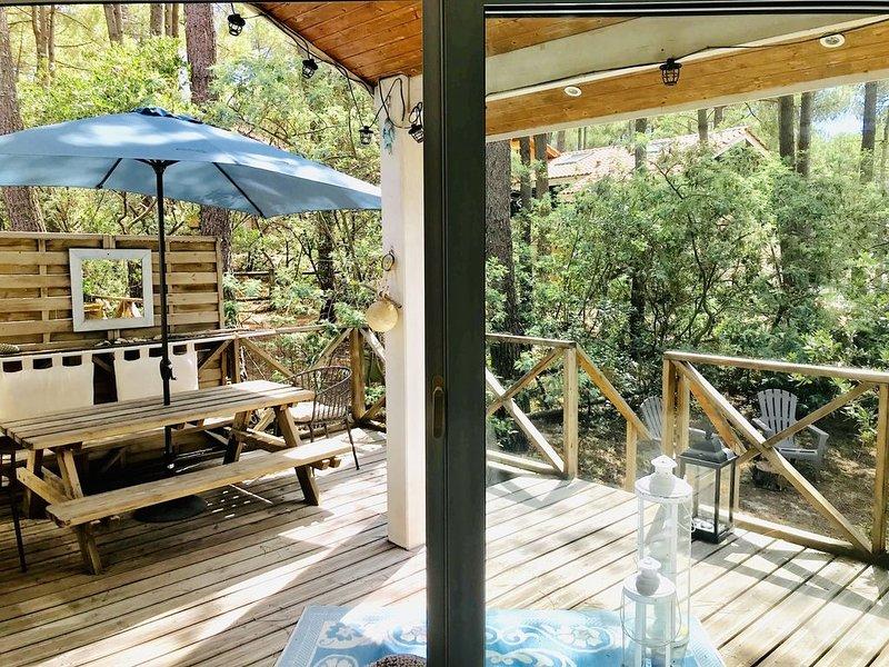 Villa confortable avec piscine et très lumineuse, vacation rental in Lacanau