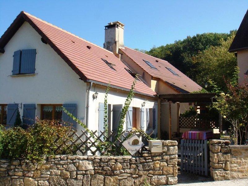 Maison en pierre restaurée dans un joli village au coeur du Périgord Noir, holiday rental in Orliaguet