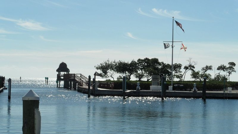 Marine long fishing pier. It's great for fishing, relaxation, and photos ops.