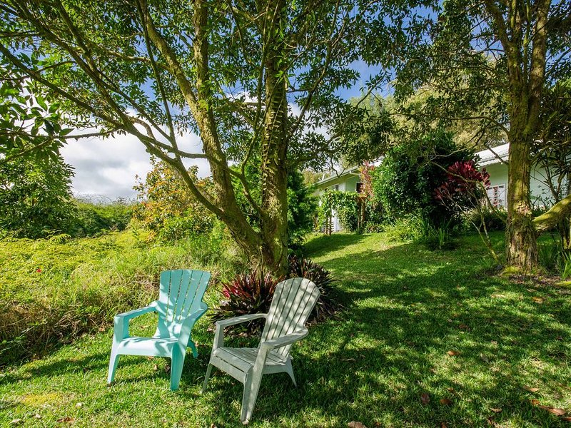 Gorgeous retreat on 3 lush landscaped acres above Hilo Town., holiday rental in Hilo