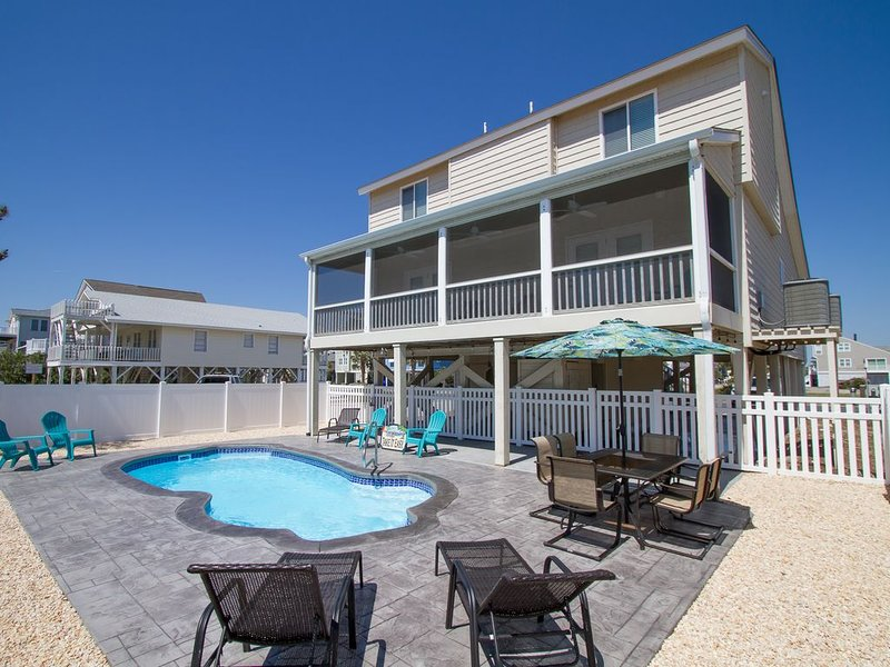 Completely Renovated Home w/ Brand New Custom Pool, Ocean View, & Prime Location, vacation rental in Ocean Isle Beach