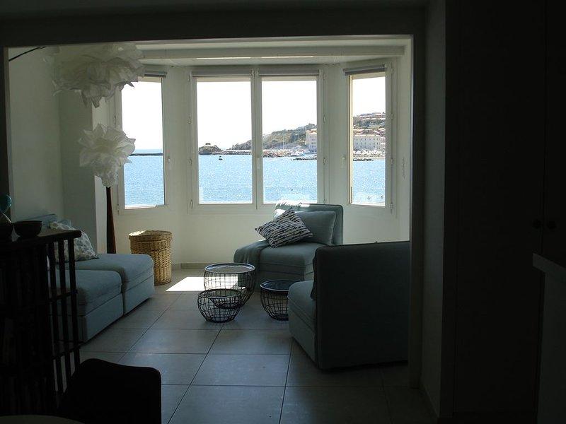 Magnifique T2 en front de mer avec vues exceptionnelles, alquiler de vacaciones en Banyuls-sur-mer
