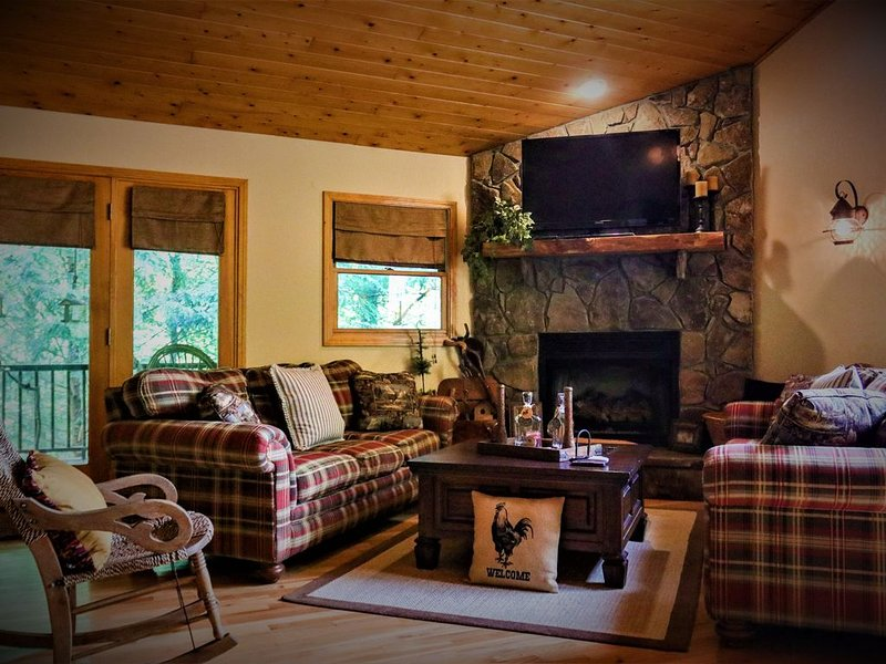 Welcome to Black Clock Cabin. Relax and enjoy the peaceful sounds of nature., holiday rental in Murphy