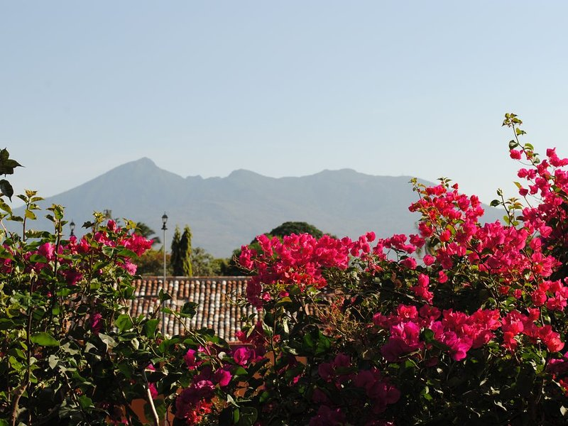 View of Mombacho Volcano from a local restaurant