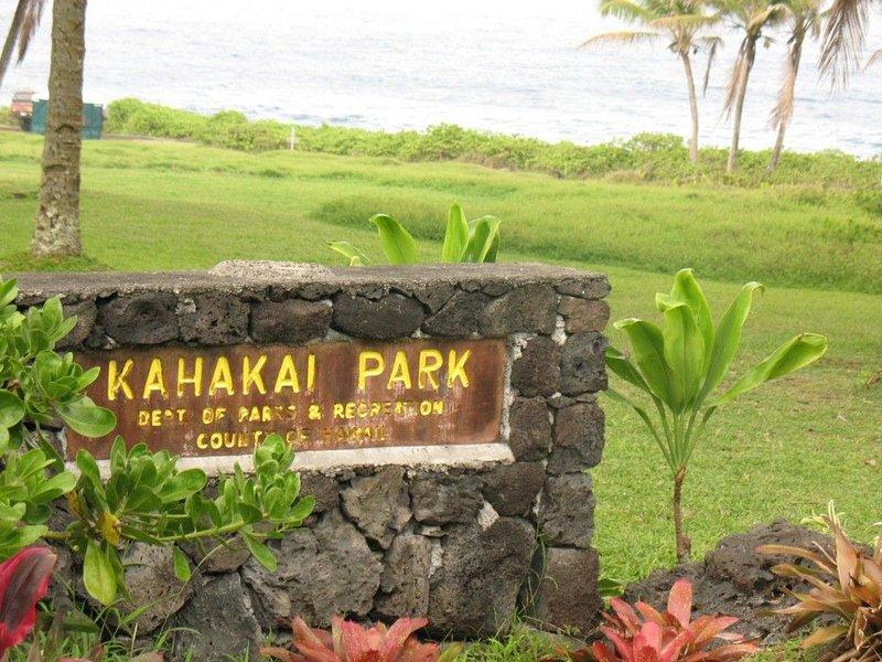 Park at bottom of neighborhood offers beautiful ocean views