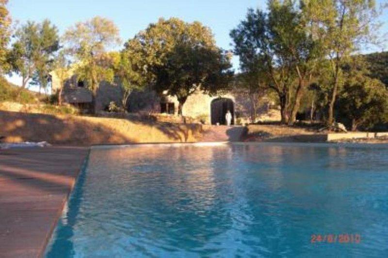 Brantes Plaisians: Mas en Provence, au coeur de 200ha,  trés grande piscine, holiday rental in Eygaliers