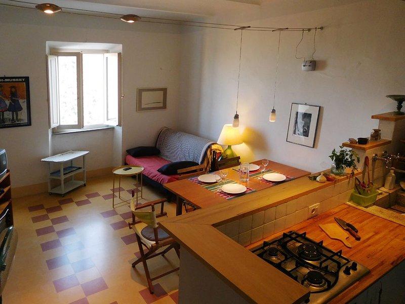 Scoglietto, appartamento panoramico e silenzioso in Maremma, holiday rental in Tirli