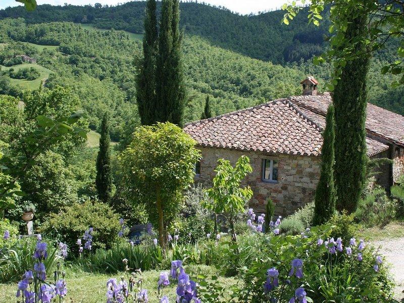 Charming Stylish Farmhouse: Private Pool, Beautiful Gardens & Stunning Views., Ferienwohnung in Lippiano