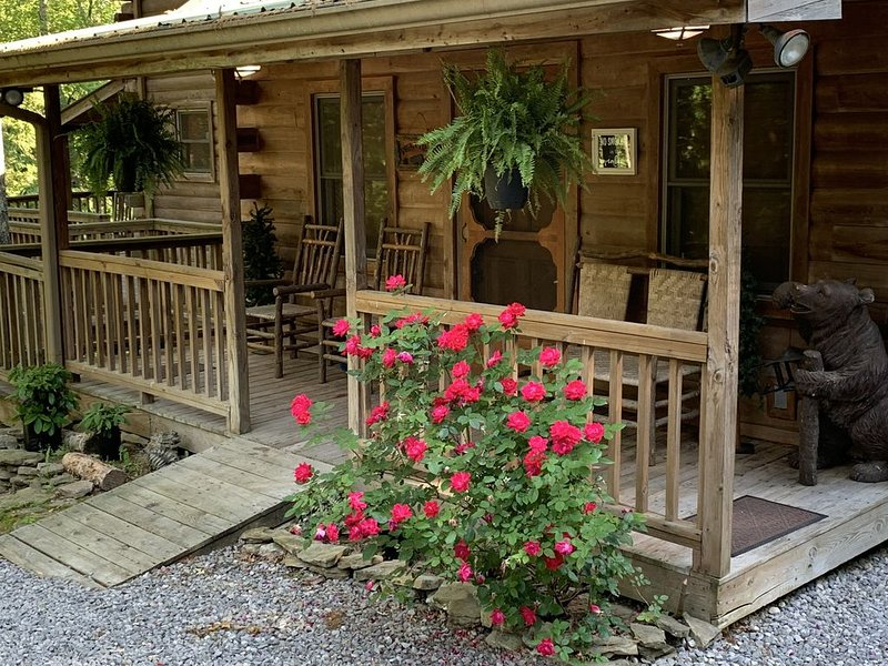 The Creekhouse Secluded Cabin on The Creek in the Mountains of North Alabama, vacation rental in Trenton