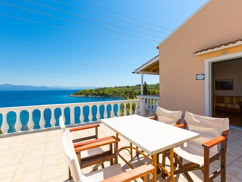 Dolphin Villa 3: Swimming Pool, Walk to Beach, Sea Views, A/C, WiFi, vacation rental in Gaios