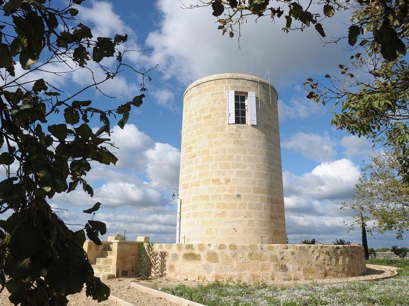 Saint-Emilion centre Moulin de charme au cœur des vignobles vue  exceptionnelle, casa vacanza a Saint-Hippolyte